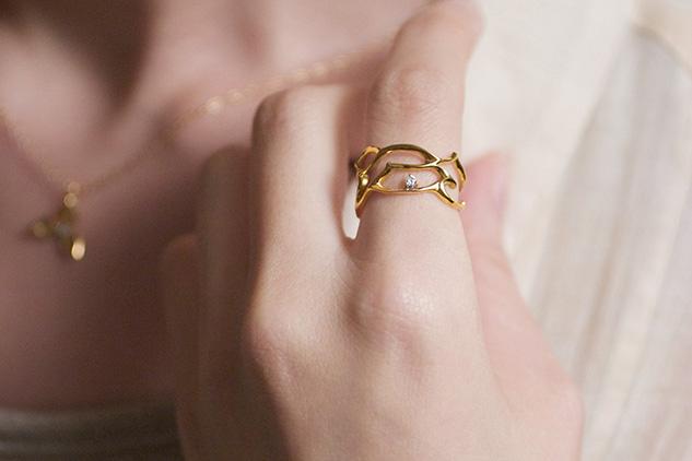 Ella | K18 アラベスクの指輪