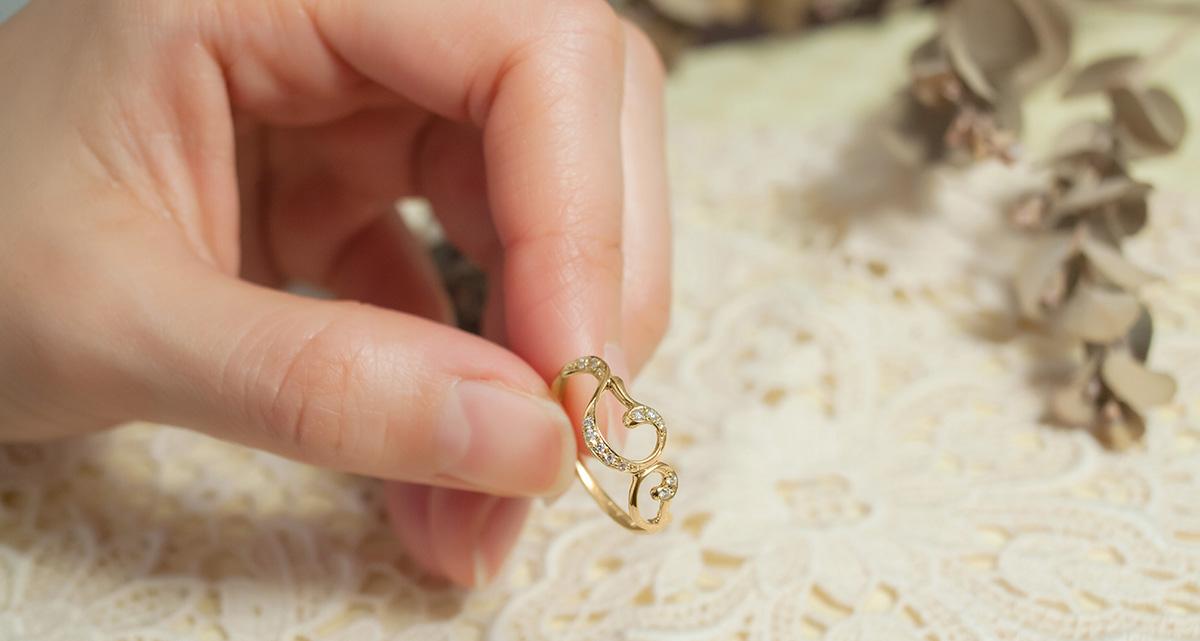 K18 ダイヤの指輪