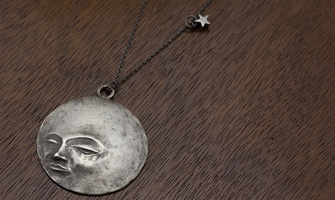 Full Moon on a Starry Night Necklace