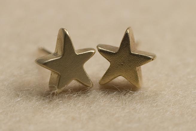 K14 星のゴールドピアス