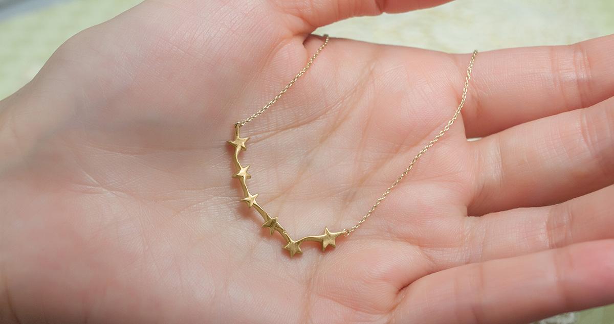 Golden Milky Way Necklace
