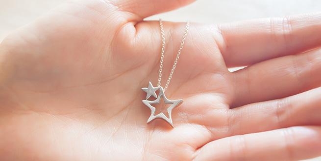 二連の星のネックレス