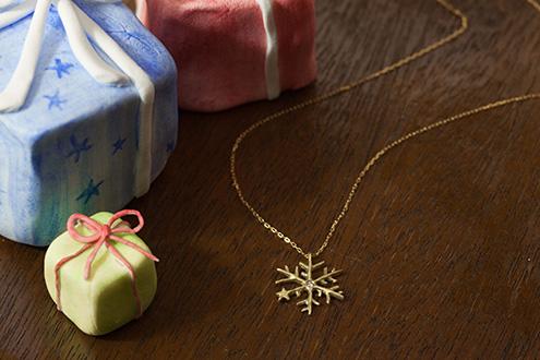 Snowflake 18K Necklace